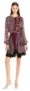 Just Cavalli Silk Animal Print Roberto Cavalli Flutter Chiffon Dress