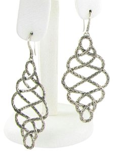 John Hardy Earrings Large Classic Chain Braided Drops Sterling Silver