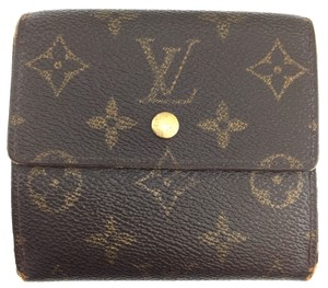 Louis Vuitton #11411 *Clearance* Square Monogram Double sided Flap Wallet