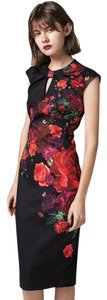 Ted Baker Rose Bodycon London Chinese Collar Floral Dress