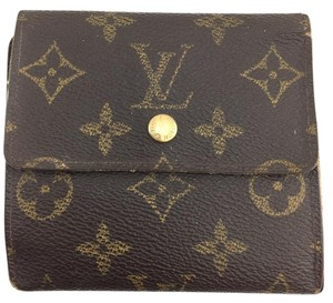 Louis Vuitton #11414 *Clearance* Square Monogram Double sided Flap Wallet