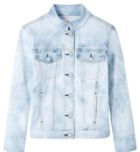 Tory Burch Denim Birdie Vintage Womens Jean Jacket
