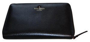 Kate Spade Leather Leather Wallet Leather Wallet Black Clutch