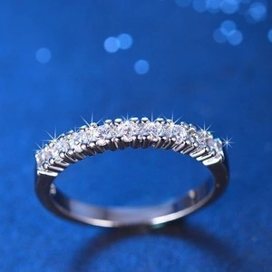 Brand-new Wedding Diamond Proposal Engagement Band Couple Sterling Silver 925 All Size 4 5 6 7 8 Engagement Eternity
