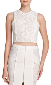 Endless Rose Bridal Wedding Crop Lace Summer Top White