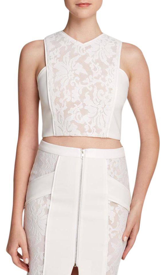 d01ce576370 Endless Rose White Sleeveless Lace Crop Tank Top/Cami Size 6 (S ...