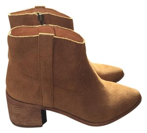 Madewell Leather Ankle Western Tan Boots
