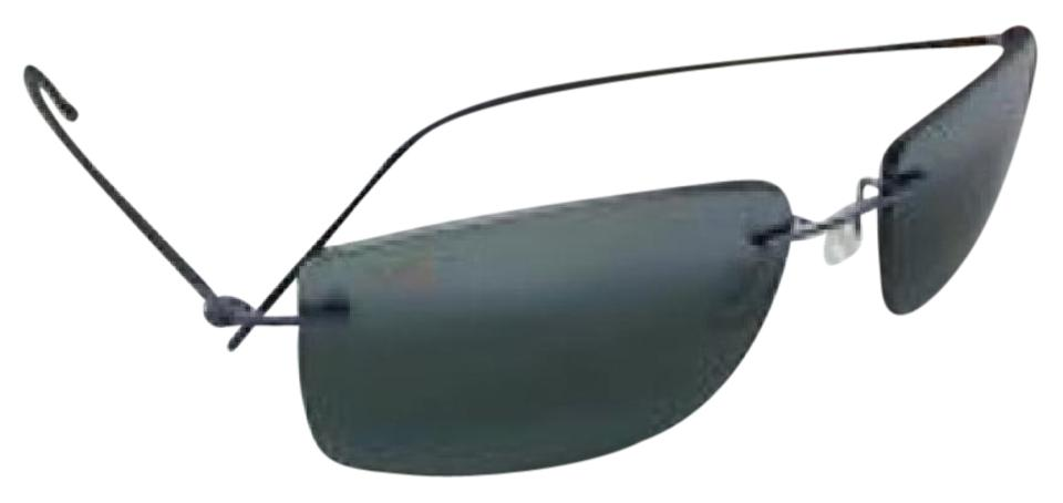 28eafcbdf41 Maui Jim 06 Gunmetal Blue with Black Si Sandhill 715 Sunglasses ...