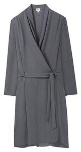 Wilfred short dress Grey Wrap Aritzia on Tradesy