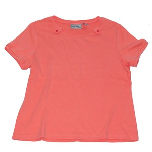 Coral Bay Button Petite Melon T Shirt Orange