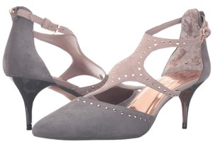 Ted Baker Suede Dark Grey/LIght Grey Pumps