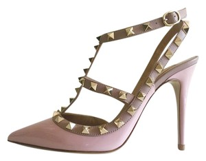 Valentino Pink Leather Rockstud pink pale Pumps