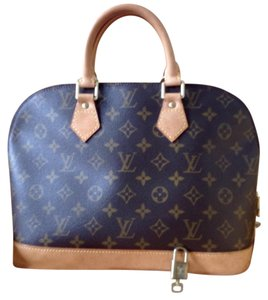 Louis Vuitton Alma Monogram Hand Canvas Satchel in Brown