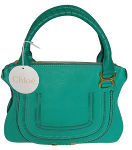 Chloé Marcie New New With Tags Chloe Leather Green Tote in Jade Green