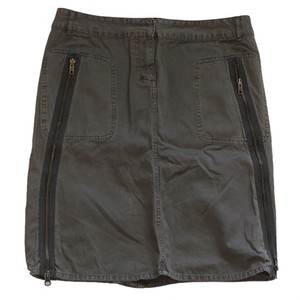 French Connection Zippers Army Pockets Skirt Green