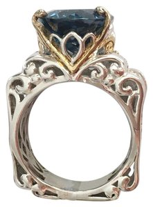Other Sterling silver gold plated topaz & sapphire cocktail ring