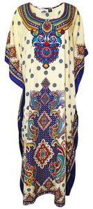 Beige Combo Maxi Dress by Other Maxi Traditional Polyester Beige