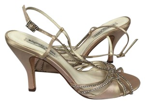 3ae3ebedb Added to Shopping Bag. Benjamin Adams Swarovski Crystal Prom Wedding Light golden  Sandals