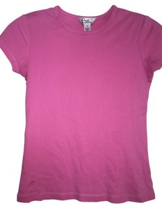 Lilly Pulitzer Comfortable Bright Cotton T Shirt Hot Pink