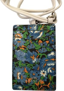 Coach NEW COACH rose floral Card Case employee I.D Tag holder Lanyard Badge