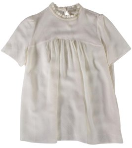 Vanessa Bruno Lace Silk Top White