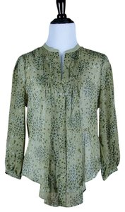 Anthropologie Top Green floral