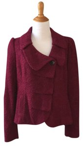 Classiques Entier Boucle Ruffle wine Red Blazer