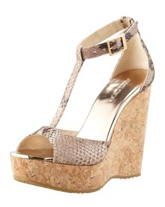 Jimmy Choo Sandal Snakeskin Wedges