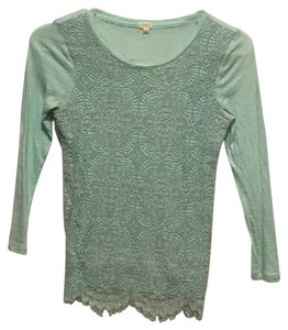 J.Crew Lace Top Teal