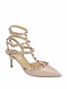Valentino Heels Leather Rockstud Powder Pumps