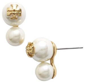 Tory Burch Double Stud Evie Pearl