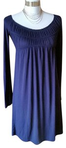 Lush short dress Blue Knit Smock on Tradesy