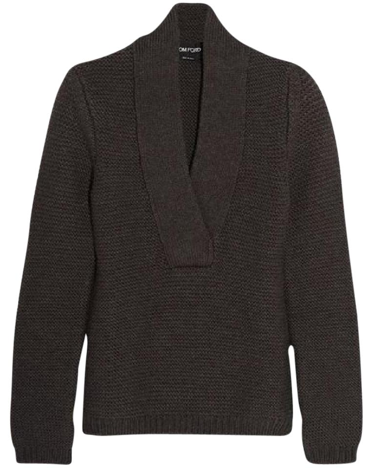 tom ford mocha ribbed sweater pullover size 8 m tradesy. Black Bedroom Furniture Sets. Home Design Ideas