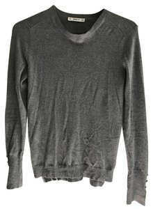 Zara Crew Neck Gold Stretchy Fitted Cotton Sweater