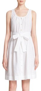 Kate Spade short dress White Broomestreet Eyelet Embroidered on Tradesy