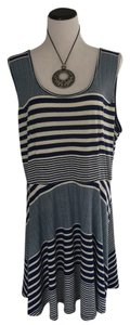 Belle du Jour short dress blue and white Plus-size Nautical Sundress Summer on Tradesy