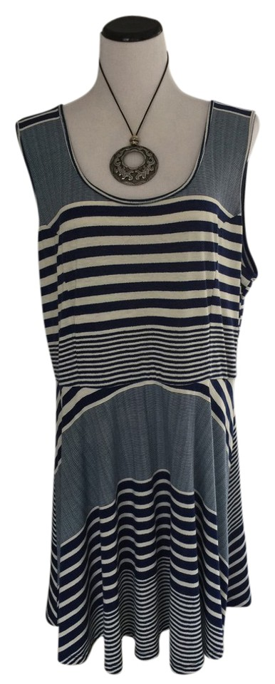 56cff728b91 Belle du Jour Blue and White New Macys Tshirt Nautical Casual Dress. Size   22 (Plus ...