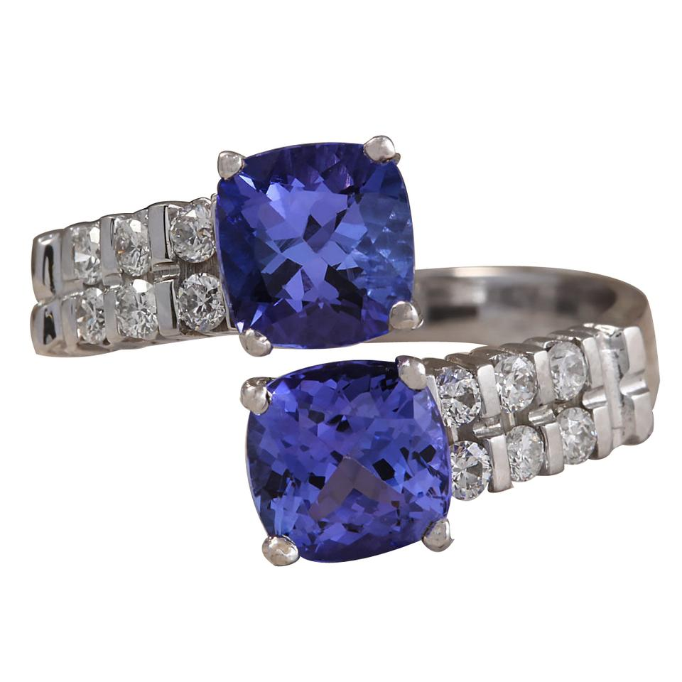blue i diamond gold tradesy carat tanzanite ring white natural