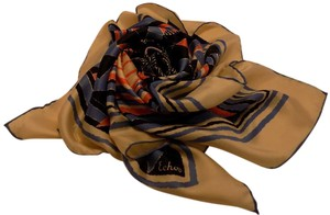 Echo Colorful Vintage Scarf with Hand Rolled Edge