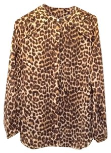 BCBGMAXAZRIA Button Down Shirt animal print
