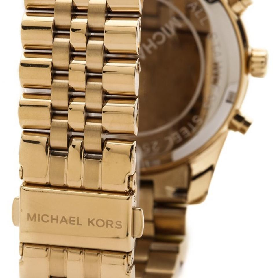 f79d4a3f0122 Michael Kors Michael Kors Lexington Chronograph Black Dial Gold-tone Mens Watch  MK8286 Image 4. 12345