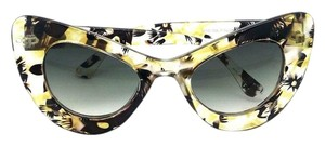 Elle Cross Elle Cross Designer Yellow Brown Clear Floral Cat Eyes Sunglasses