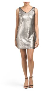 Romeo & Juliet Couture Matte Metallic Sequins Micro-mini Cocktail Dress