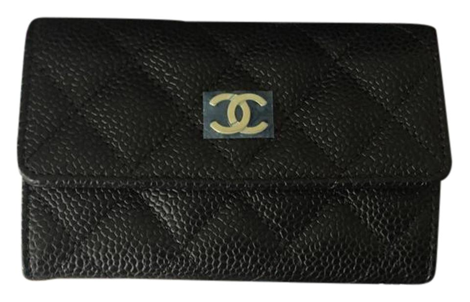 9c19994b7e44f3 Chanel Black Caviar GHW Timeless O Card Case Wallet Image 0 ...