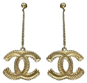 Chanel Chanel Large Byzantine CC Chain Gold CC Dangle Earrings brand new