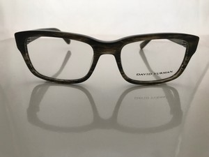 David Yurman David Yurman Eyeglasses DY646 Gator 08GN Olive Quartz Horn with Gunmet