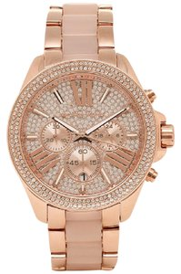 Michael Kors watch women's MICHAEL KORS MK6096 Chronograph Watch watch rose gold