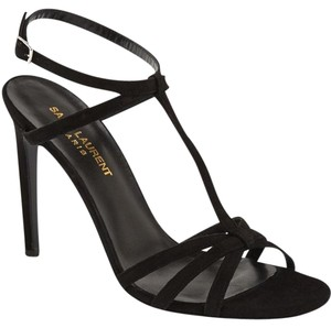 Saint Laurent Ysl Yves Black Sandals