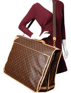 Louis Vuitton Garment Monogram Canvas Luggage Suitcase Brown Travel Bag
