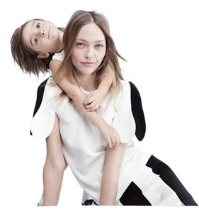 Victoria Beckham for Target Top Black, white